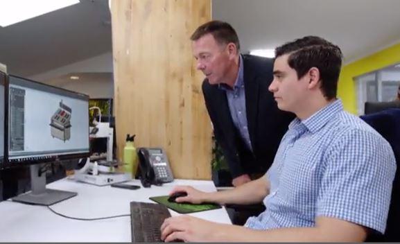 Michael at computer