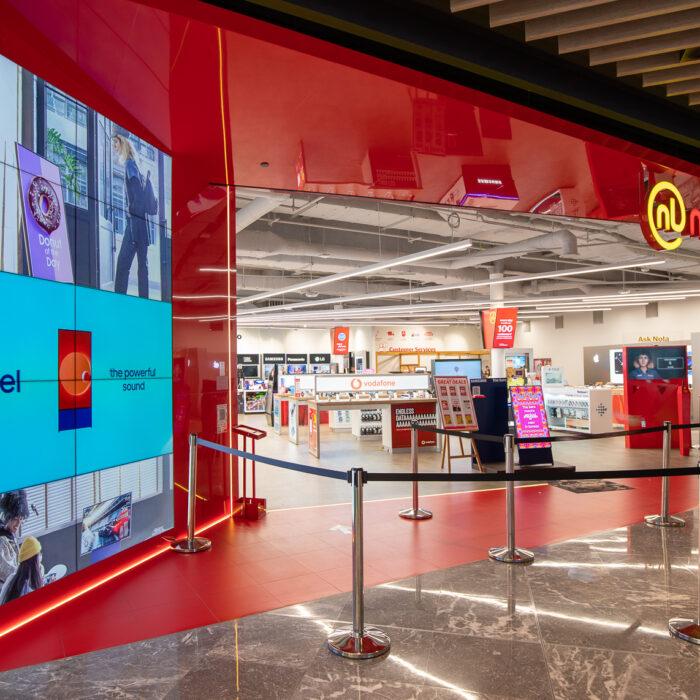 Modern look, sleek lines for new store.