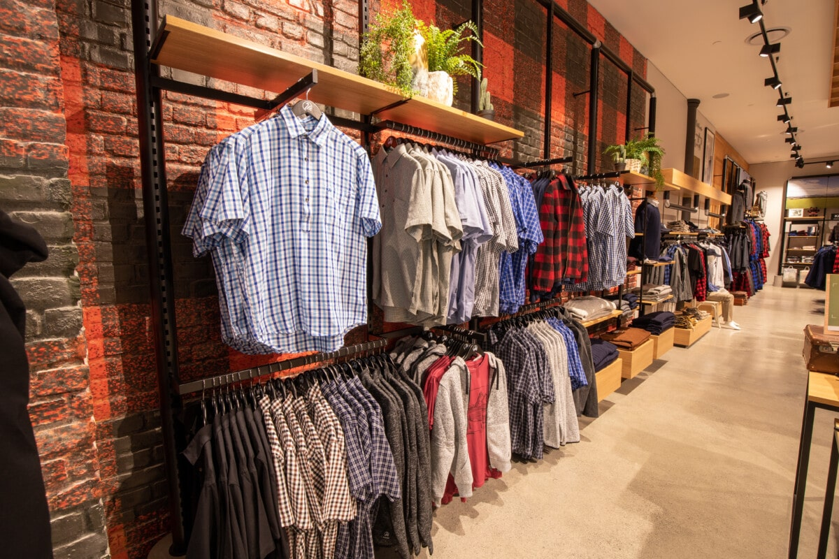 Outdoors apparel wall shelving system