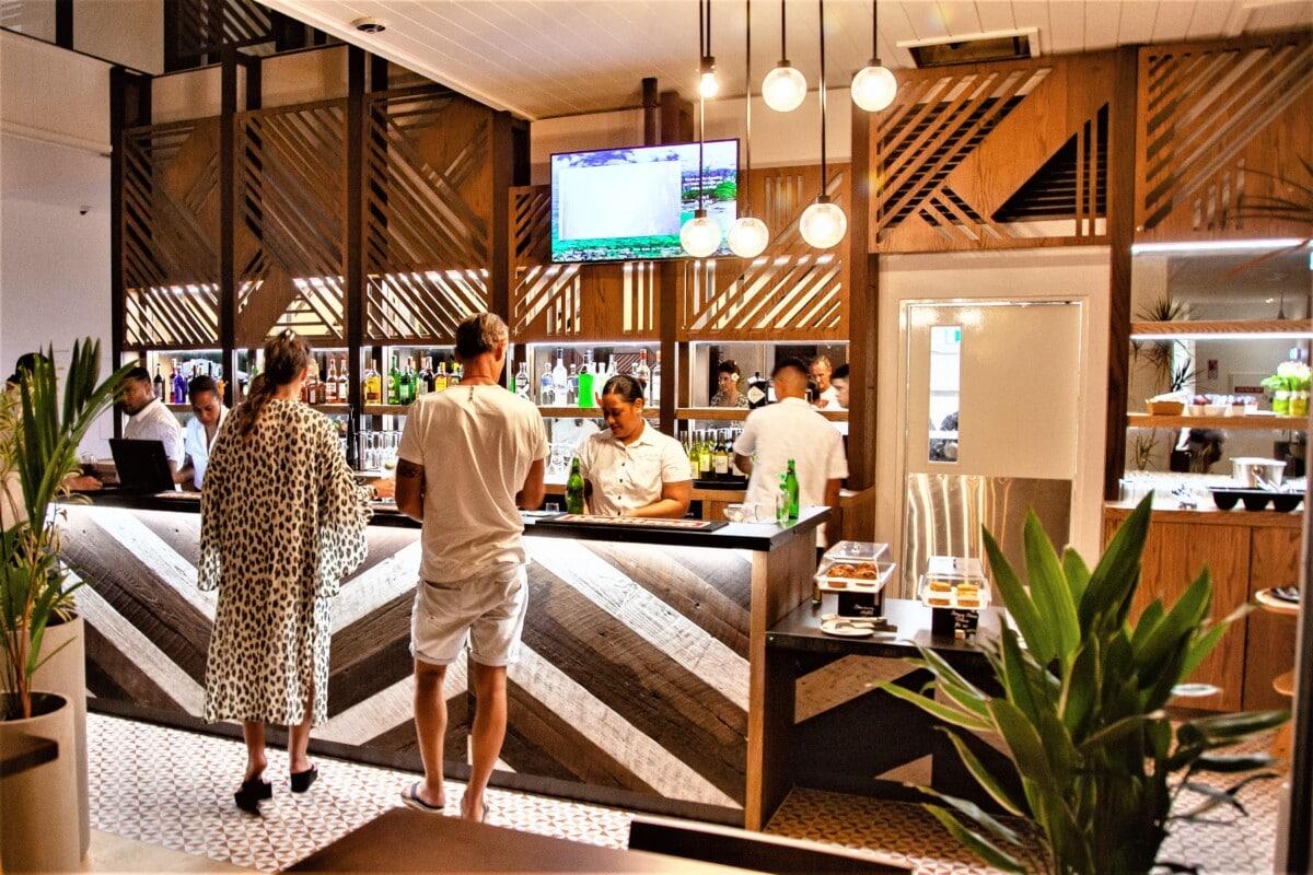 Bar service counter in the Lava Hotel