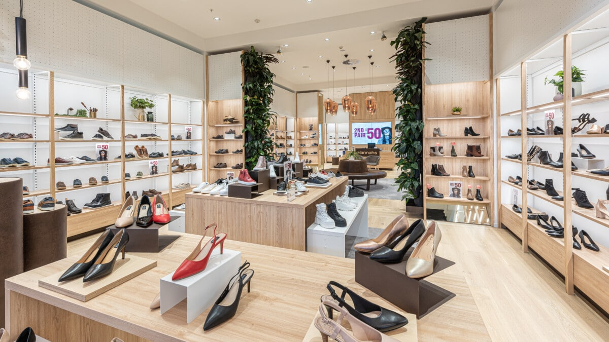Footwear display and nesting tables for display