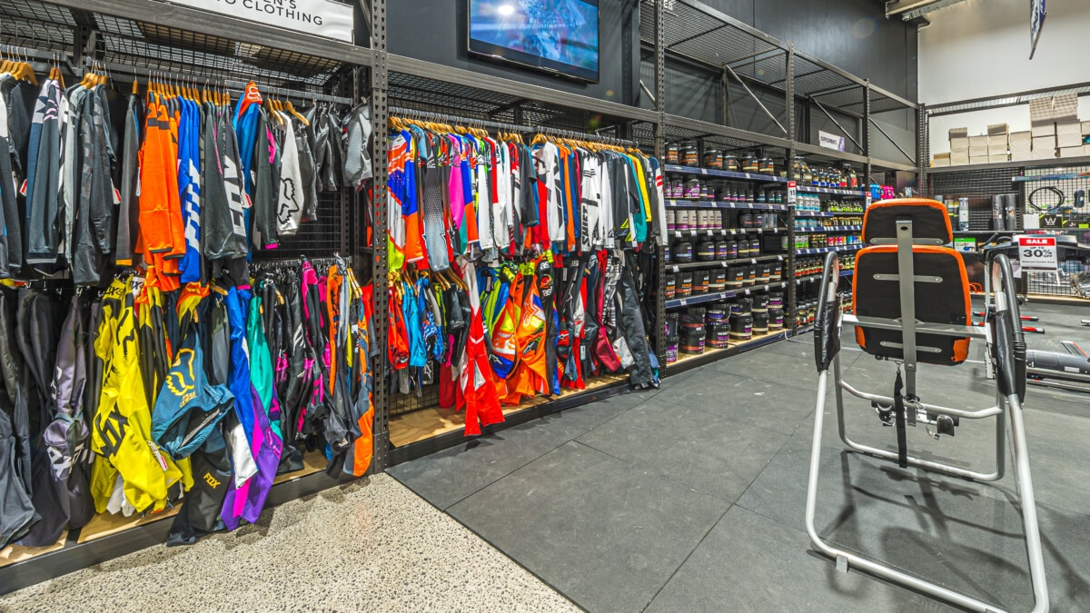 Wall display system for sporting goods